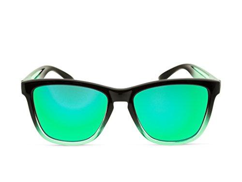 ALPHA ® TR90 Mosca NEGRA Negra SUNSET Polarized Sunglasses Green modèle Lunettes MOSCA de soleil xzxTpCqw