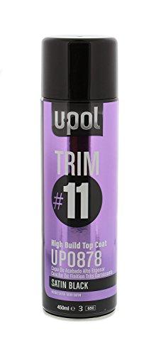 U-POL 0878 Trim#11 High Build Top Coat, Satin Black, 450 ml Aerosol