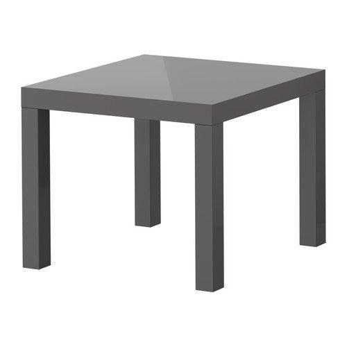 Ikea Lack Beistelltisch Hochglanz Grau 55x55 Cm Amazon De Kuche