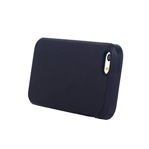 MOONCASE iPhone SE Hülle, Dual Layer Fallschutz Anti-Scratch Rugged Armor Defender Case Tasche Schutzhülle für iPhone 5 / 5s / SE Schwarz