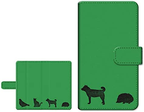液晶保護ガラスフィルム付き スマホケース 手帳型 LG it LGV36 エルジー イット 対応 au スライドタイプ カード収納 スタンド機能 内側カラー:ホワイト アニマル(type002)