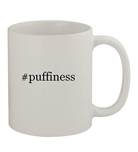 - #puffiness - 11oz Sturdy Hashtag Ceramic Coffee Cup Mug, White