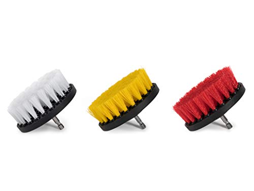 Drill Brush Set 4 Inch 3 Piece Power Scrubber Brushes for Car Cleaning and Automotive Detailing Wilson Auto Detailing