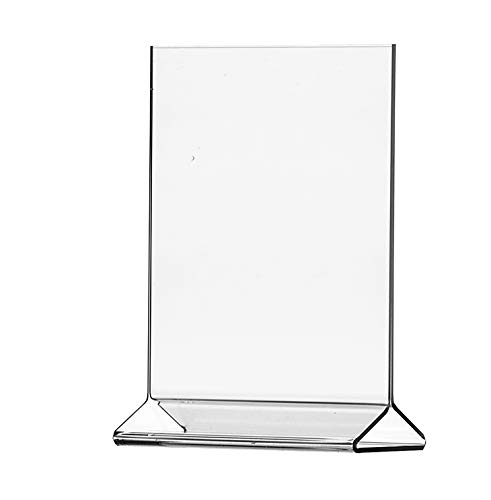 "(Pack of 6) 8½"" x 11"" Acrylic Sign Holder / Clear Table Card Display / Plastic Upright Menu Ad Frame, recipe holder"