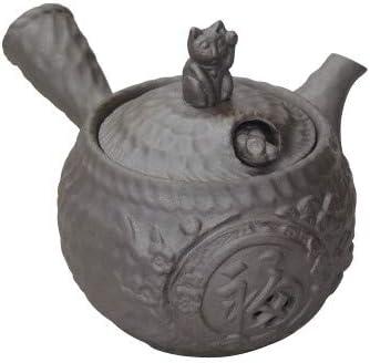 Banko Ware Japanese Pottery Kyusu teiera Maneki Neko Gimmick