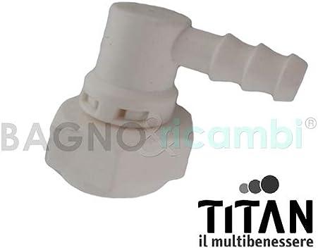 Titan Repuesto curvetta de conexión alcachofa mampara de Ducha ...