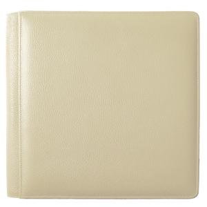 ST. TROPEZ BONE fine-grain leather #105 album with 5-at-a-time pages by Raika® - 4x6