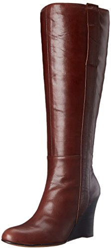 Nine West Women's Oran Leather Boot Dark Brown wide range of for sale outlet in China shop offer for sale cheap outlet locations discount limited edition wXRcrn9MWO