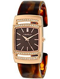 Caravelle New York Women's 44L150 Analog Display Japanese Quartz Brown Watch