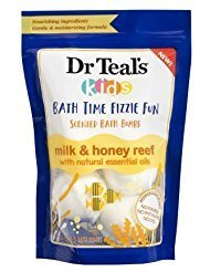 Time Fizzie Fun Scented Bath Bombs Milk & Honey Reef with Natural Essential Oils ()