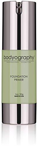 Bodyography Foundation Primer (Green): Clear-Drying Anti-Aging Salon Makeup Primer w/Vitamin E, A, Jojoba, Grapeseed Oil | Minimize Rosacea, Redness | Gluten-Free, - Powder Green Foundation