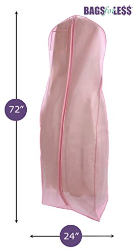 Brand New Pink Breathable Wedding Gown Dress Garment Bag by BAGS FOR LESSTM (Dress Garment Bag Pink compare prices)