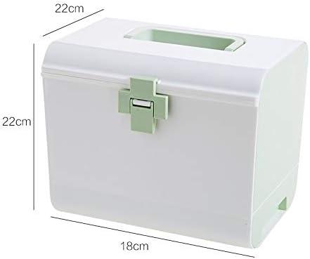 Caja de Medicina de múltiples Capas de plástico Caja Grande de Medicina botiquín de Gran Capacidad Caja de Almacenamiento de Medicina de Gran Capacidad Caja de Medicina portátil WFLDD: Amazon.es: Hogar