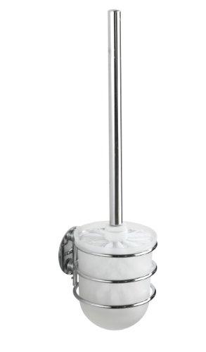 WENKO 18768100 Turbo-Loc WC-Garnitur  - Befestigen ohne bohren, Stahl, 10 x 37.5 x 11.5 cm, Chrom
