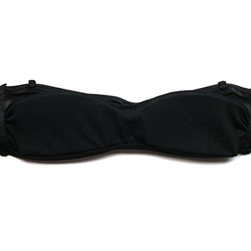 Colloyes Mujer Talle Alto Bikini Vestidos De Baño Verano Playa Traje Ropa Multi-estilo Retro Swimsuit 01-Negro
