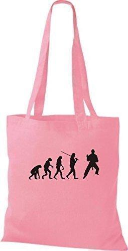 Shirtinstyle - Bolso de asas de algodón para hombre rosa - rosa