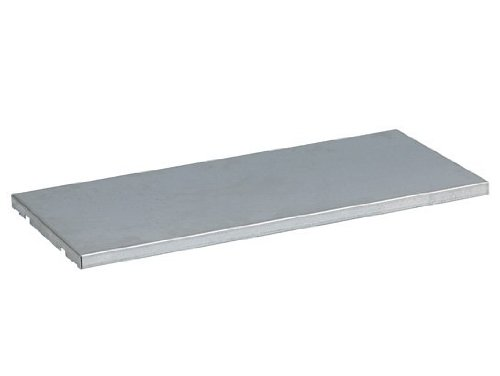 Justrite 29946 Galvanized Steel Half-Depth Shelf, 30-3/8'' Width x 14'' Depth, For Single 55 Gallon Vertical Drum Cabinet