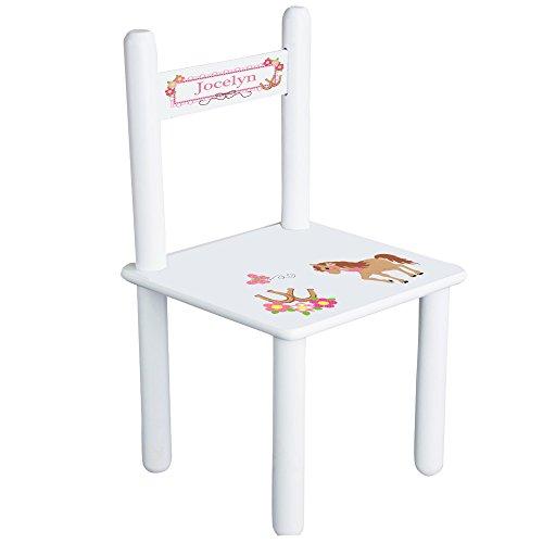 Personalized Pretty Pony Child's Chair - White