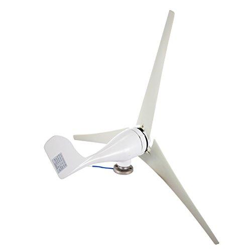 Happybuy Wind Turbine Generator 400W DC 12V Wind Turbine 3 Blade Low Wind Speed Starting NSK Bearings Garden Street Lights Wind Turbines with Charge Controller Garden by Happybuy (Image #2)