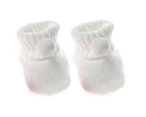 Baby-Schuhe Häkel-Booties Strick-Socken Jungen Mädchen White