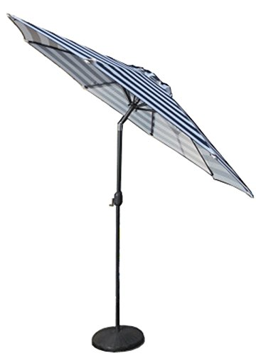 VMI Striped Umbrella, Large, Navy (Blue Umbrella Striped)