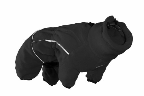 Hurtta Collection 22-Inch Micro Fleece Jumpsuit for Pets, Large, Black by Hurtta