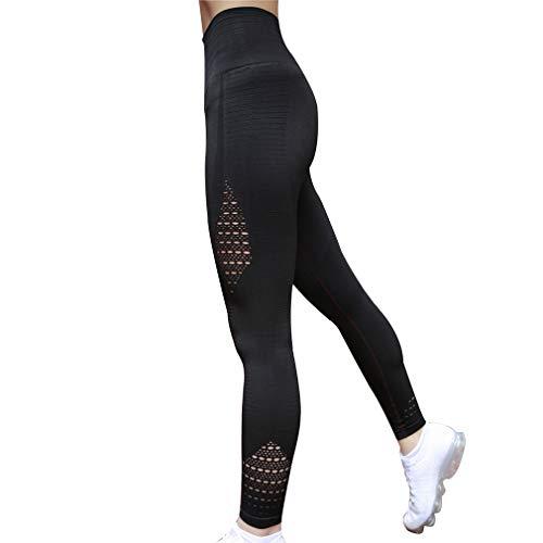 Casuale Hollow Fit Confortevole Moda Per Palestra Pantaloni Nero Slim Elastica Donna 1 Leggings Skinny Fitness Out Sport Vita Esercizio xR1WvCq