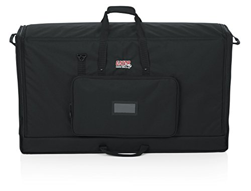 Gator Padded Nylon Dual Carry Tote Bag for Transporting (2) LCD Screens, Monitors and TVs Between 40