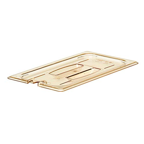 (Cambro 30HPCHN150 Amber 1/3 Size Notched H-Pan Cover with Handle )