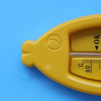 Amandai No t/óxicos secos y mojados duales beb/és Ducha de medir la forma term/ómetros pescado