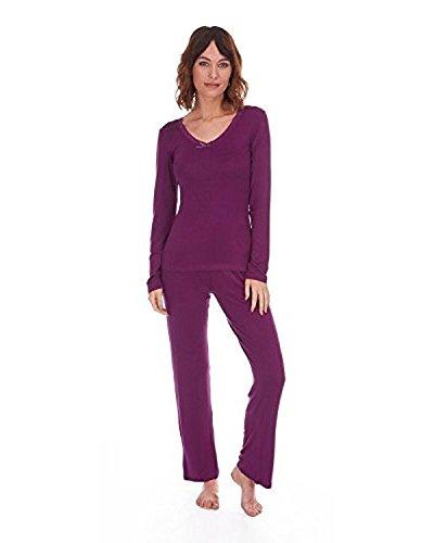 Mujer Ligero Verano Pijama / Conjunto Para Hogar Con encaje en el borde Top Morado