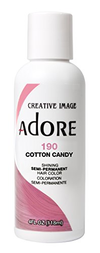 Adore Semi-Permanent Haircolor #190 Cotton Candy 4 Ounce (118ml) (Good Hair Dye Colors For Dark Brown Hair)