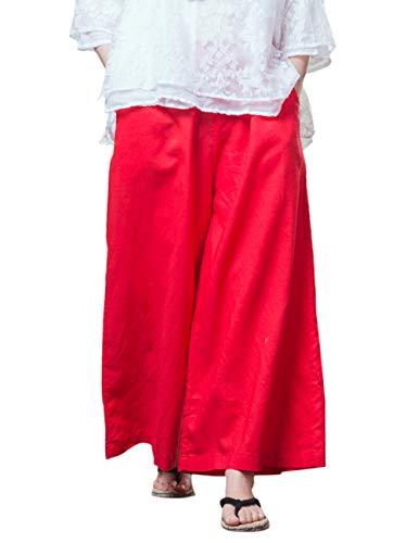 per Zhhlaixing Rosso Casuale All'aperto Sport Cascante In Jogging Linen Gli Sciolto Comodo Biancheria Forma In Pantaloni Pantaloni Classico Esecuzione Pants Indossare rCwOrRq