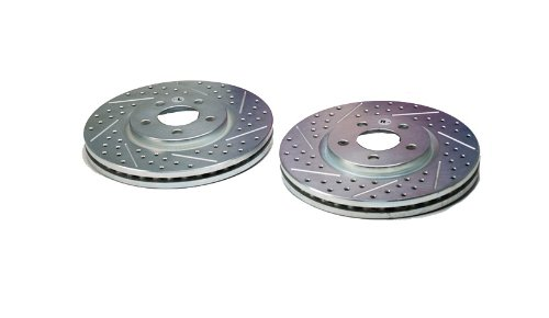Pair BAER 53009-020 Sport Rotors Slotted Drilled Zinc Plated Front Brake Rotor Set