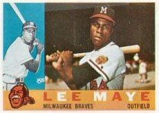 1960 Topps Regular (Baseball) Card# 246 Lee Maye of the Milwaukee Braves VGX Condition ()