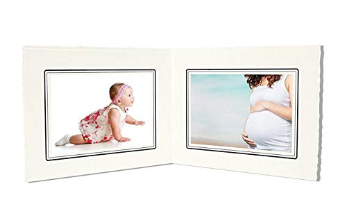 (Golden State Art, Cardboard Photo Folder for Double 4x6 Photo (Pack of 50) GS003 Ivory Color)