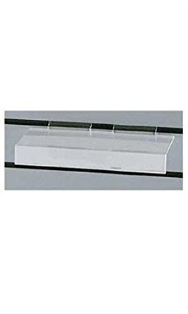 Count of 10 Clear Plastic Shelves with Sign Holders-4'' x 10''(1/8'' thick) by Clear shelves