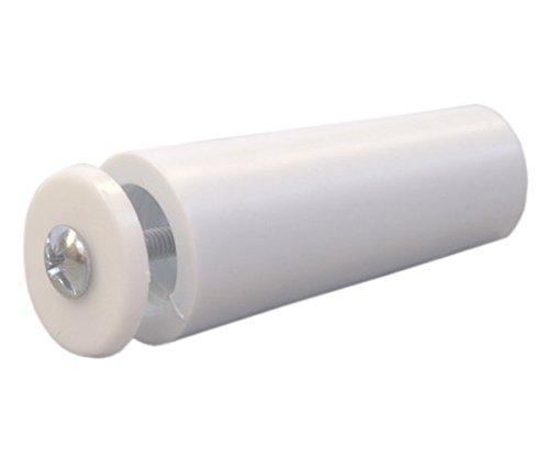 Sysfix Tope para persiana TP 55 Blanco Caja de 12 Unidades con Tornillo y arandela 5.5x2.4x2.4 cm