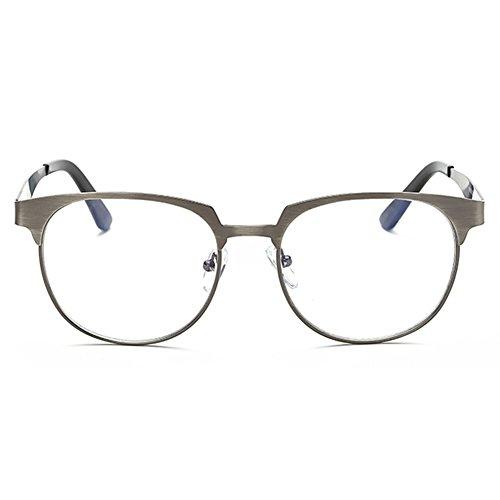 24a930ae24 Lovely Hombres Mujeres Gafas - Marco de Metal Anti Azul Claro Claro Lentes  Gafas Marco para