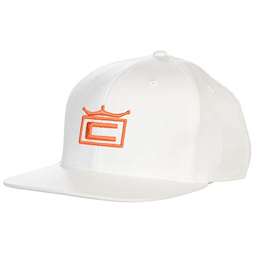 (Cobra Golf 2019 Tour Crown Snapback Hat (White-Vibrant)