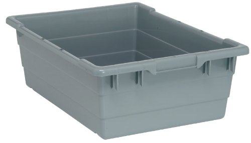 "Cross Stack Tubs (23 3/4 [Set of 6] Color: Gray, Dimensions: 23 3/4"" L x 17"" W x 8"" H"