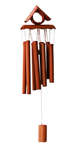 (Wind Chimes,Wooden Melody Bamboo Wind Bell, Large Brown Bamboo Amazing Grace Wind Chimes for Garden Outdoor Indoor Home Front Door Decor with Beautiful Sound)