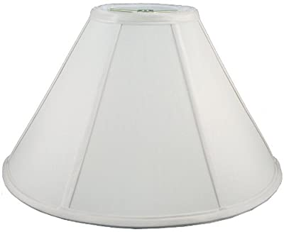 "American Pride 9""x 24""x 12"" Round Soft Shantung Tailored Lampshade, White"