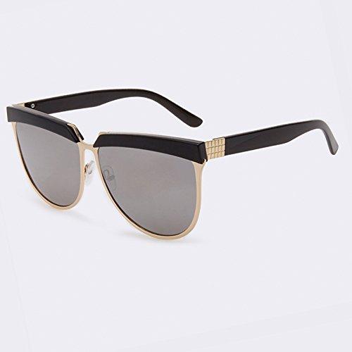 sol gafas C01 Vintage Gafas de sombras superior TIANLIANG04 de gafas plana Silver metal espejo de C04 Gold sol mujer mujer aEzBw