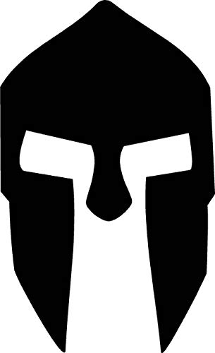 300 Spartan Helmet Warrior Clan War Car Window Tumblers Wall Decal Sticker Vinyl Laptops Cellphones Phones Tablets Ipads Helmets Motorcycles Computer Towers V & T Gifts -
