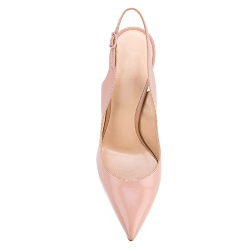 Sexy B Court Shoes Bowknot Onlymaker Stiletto Women's Pointed pink High Heels Metal Toe Rx5Pxzqw
