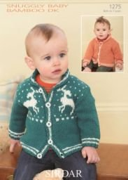 (Cardigans in Snuggly Baby Bamboo DK - Sirdar Knitting Pattern 1275)