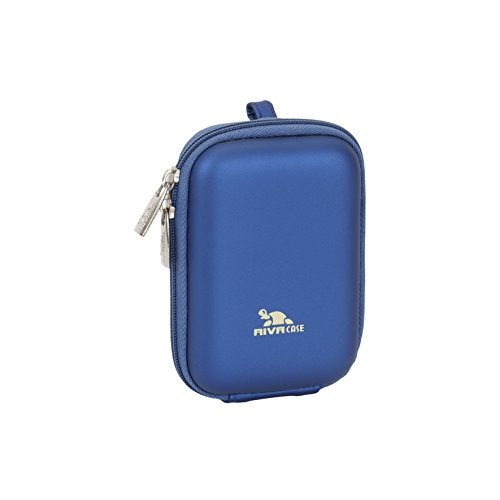 RivaCase 7022 PU Compact Case for Point and Shoot Digital Camera - Light Blue (Camera Small Case)