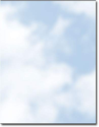 Soft Clouds Stationery - 80 - Design Letterhead Paper