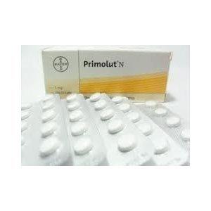 Primolut-N 10 comprimés, utilisés pour la contraception ou pour traiter des conditions telles que l'aménorrhée secondaire, saignement utérin anormal, et l'endométriose.